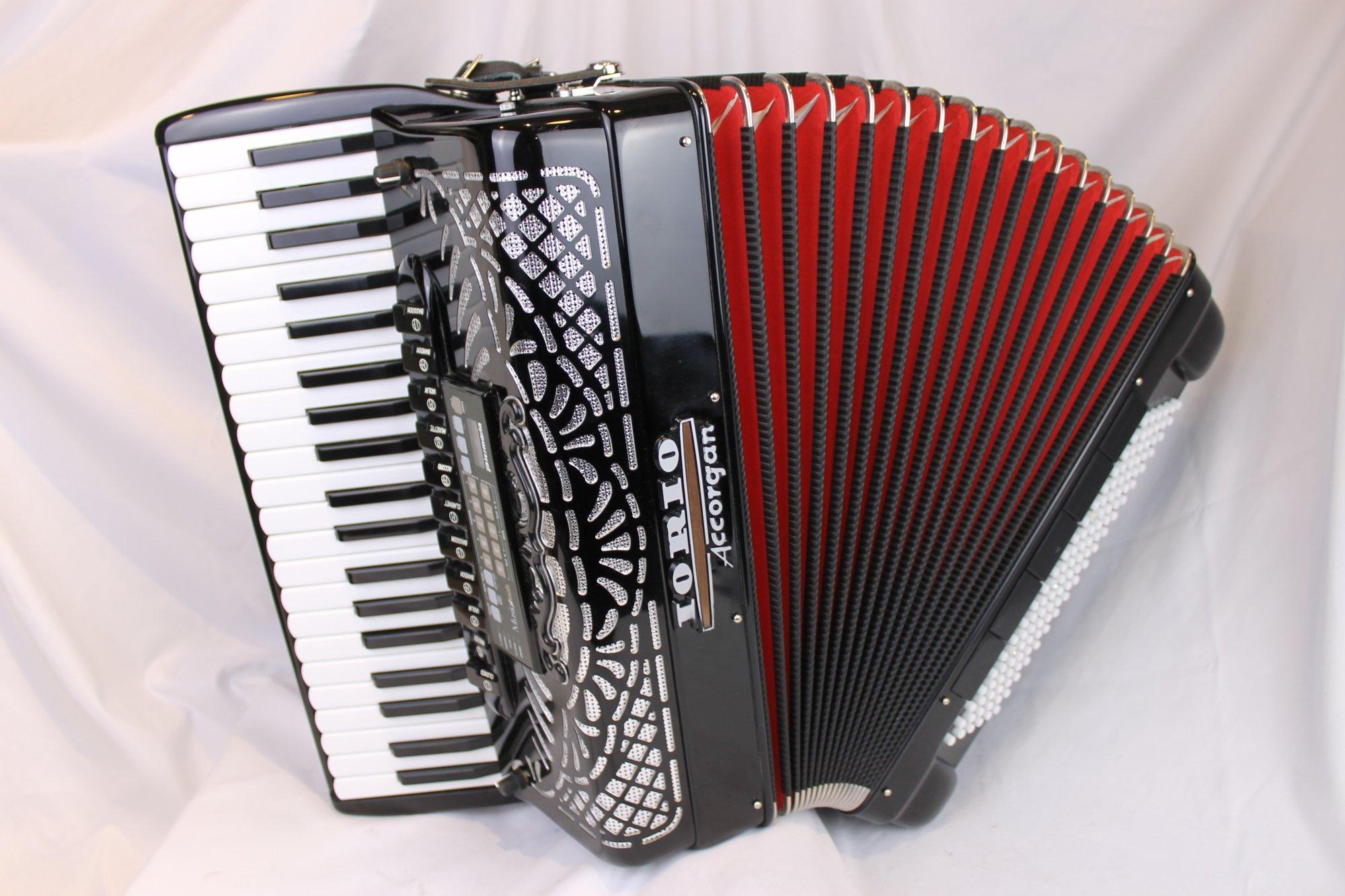 3941 - Black Iorio K Series Accorgan Model 411 Piano Accordion LMMM 41 120