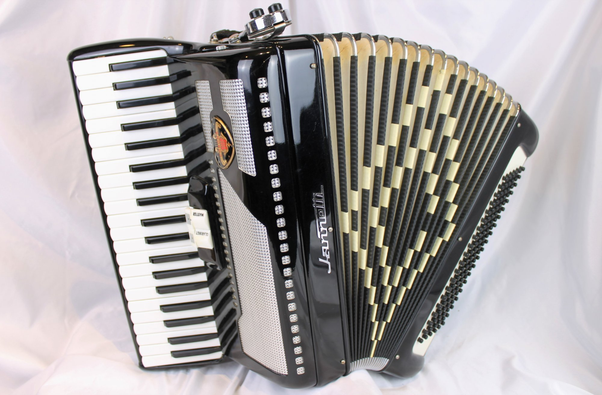 4507 - Black Jannetti Corona Piano Accordion LM 41 120