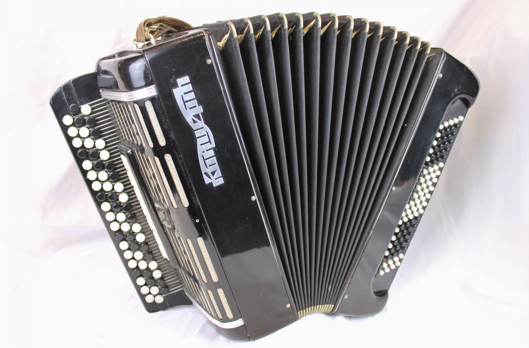 4549 - Black Concerto Bayan Chromatic Button Accordion LMMH 58 120