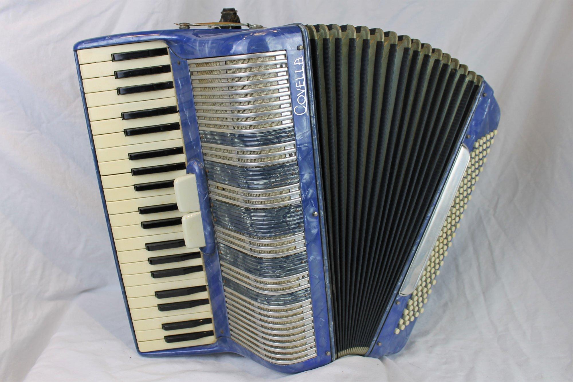 4588 - Blue Covella Piano Accordion LM 41 120
