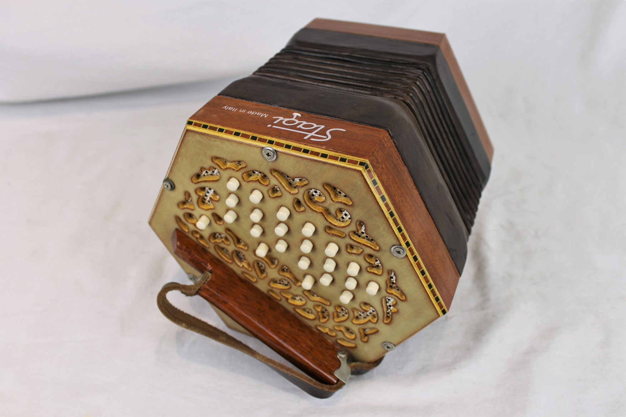 4736 - Frosted Mahogany Stagi W-40-MS Anglo Concertina CG M 40