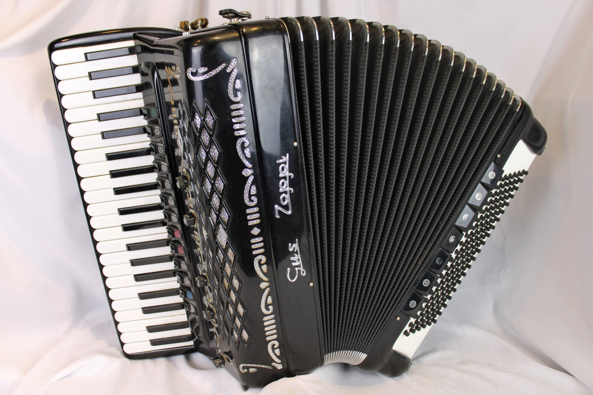 4806 - Black Borsini Gus Zoppi Piano Accordion LMMMH 41 120