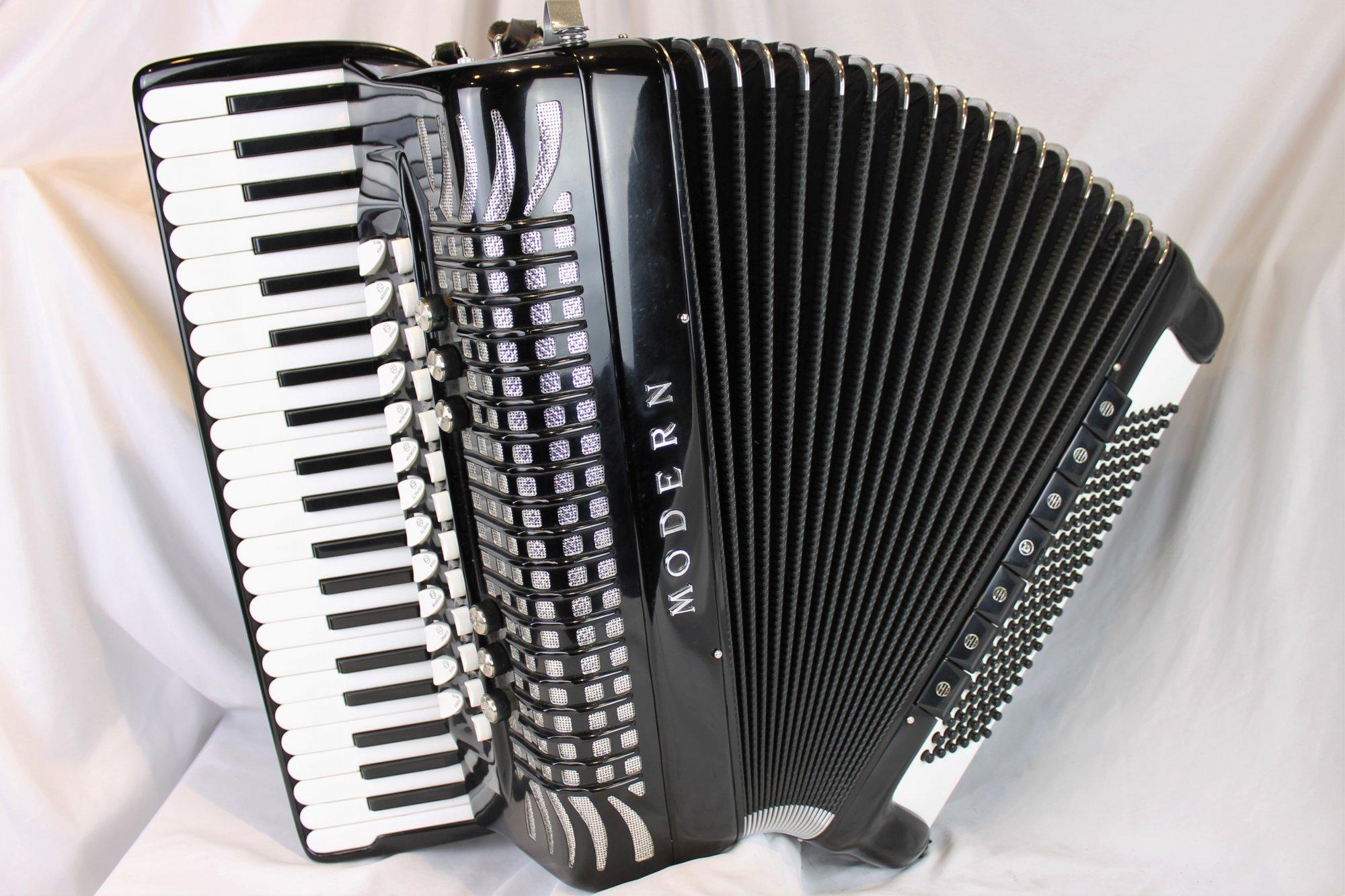 4859 - Black Borsini Modern Piano Accordion LMMM 44 120