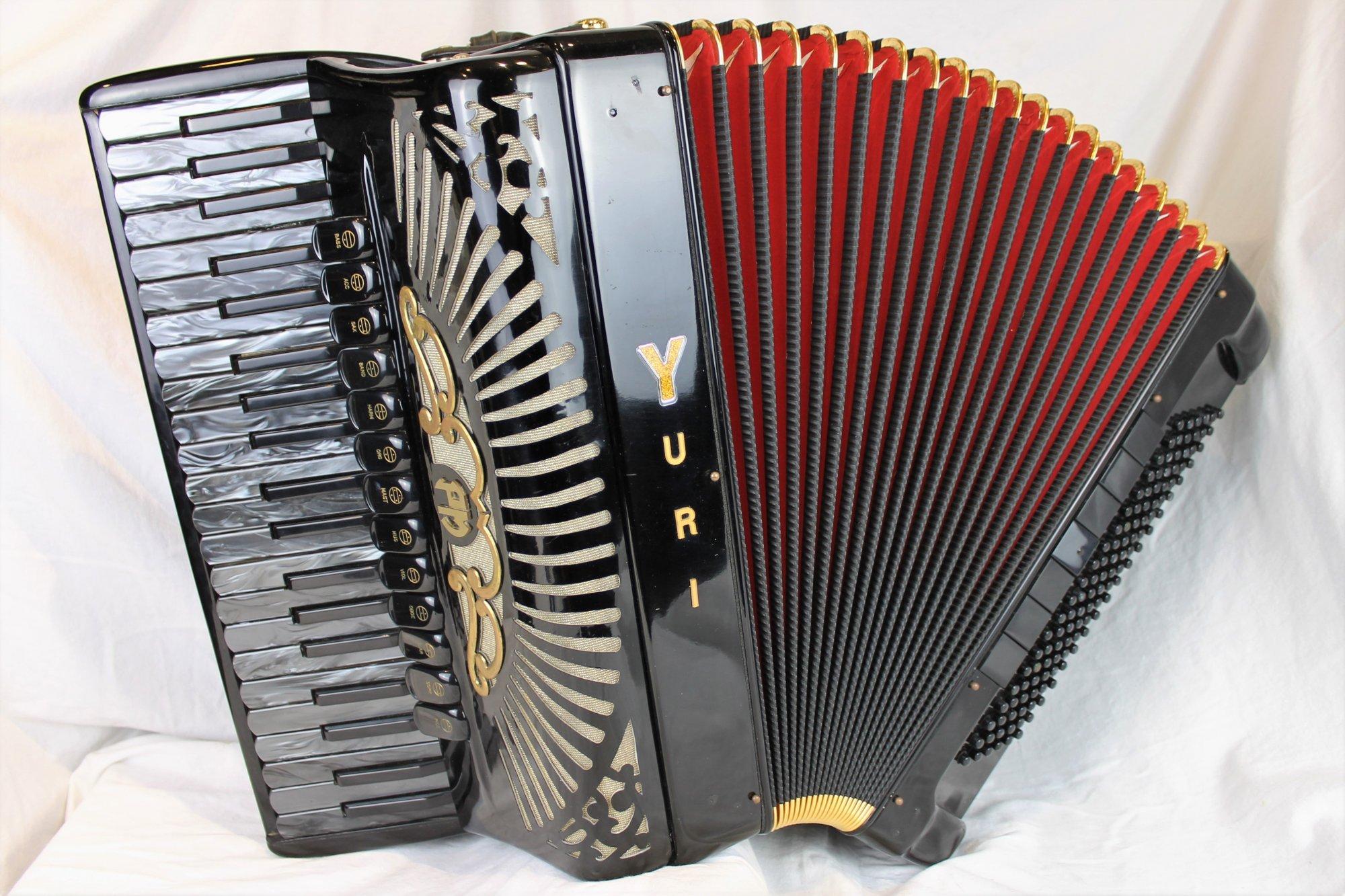 4883 - Black Gold Yuri Lemeshev Custom Piano Accordion LMMH 41 120