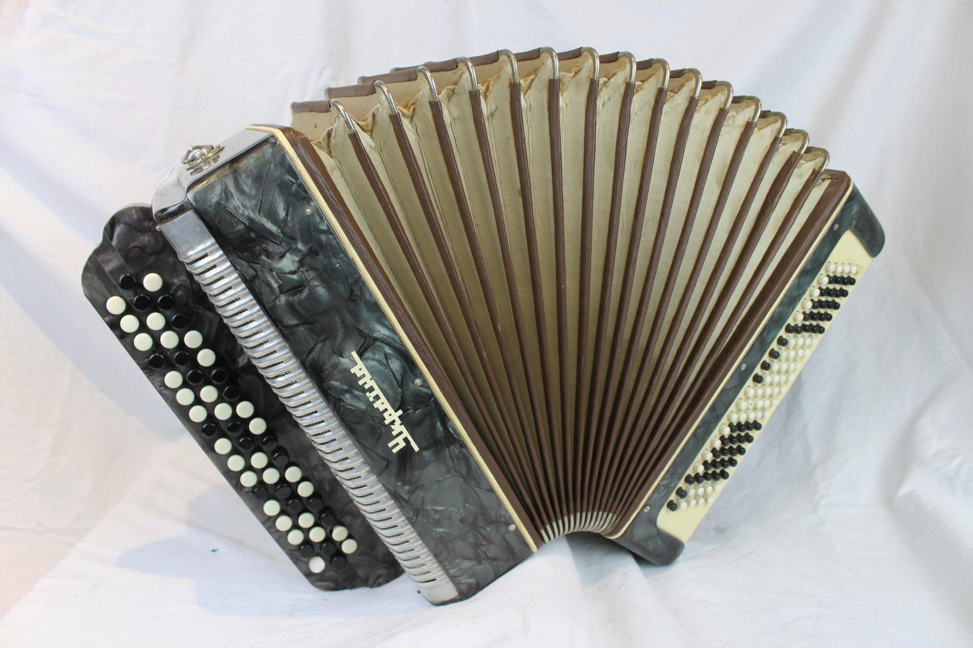 6013 - Slate Ukraine Bayan Chromatic Button Accordion B System MM 52 100