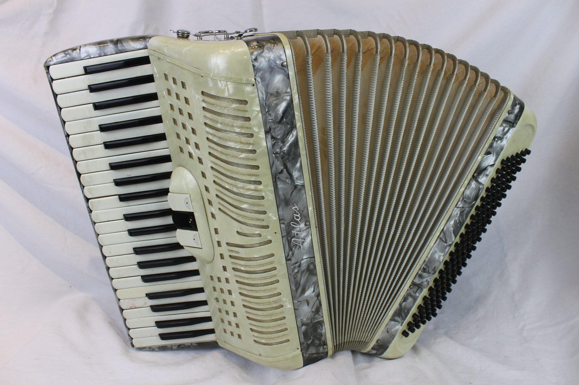 6037 - Silver Atlas Century Piano Accordion LM 41 120