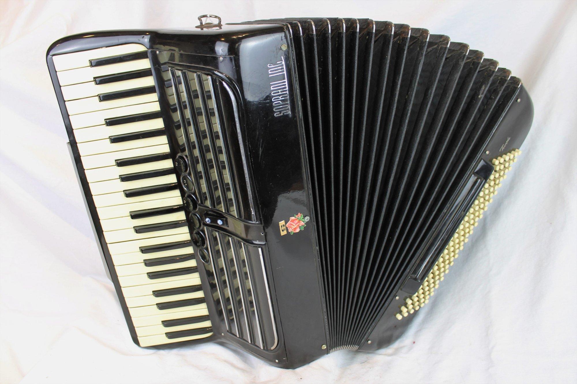 6074 - Black Soprani Inc. Piano Accordion LMMH 41 120