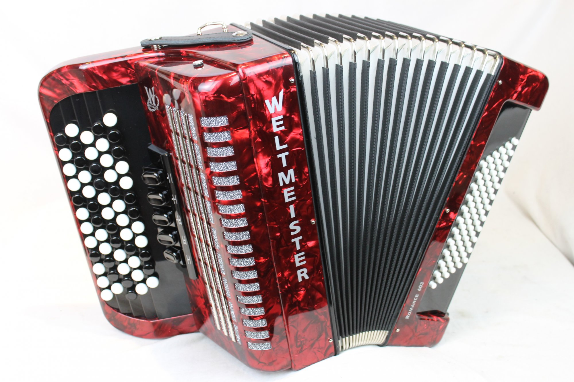 NEW Red Weltmeister Romance 603 Chromatic Button Accordion B LMM 60 72