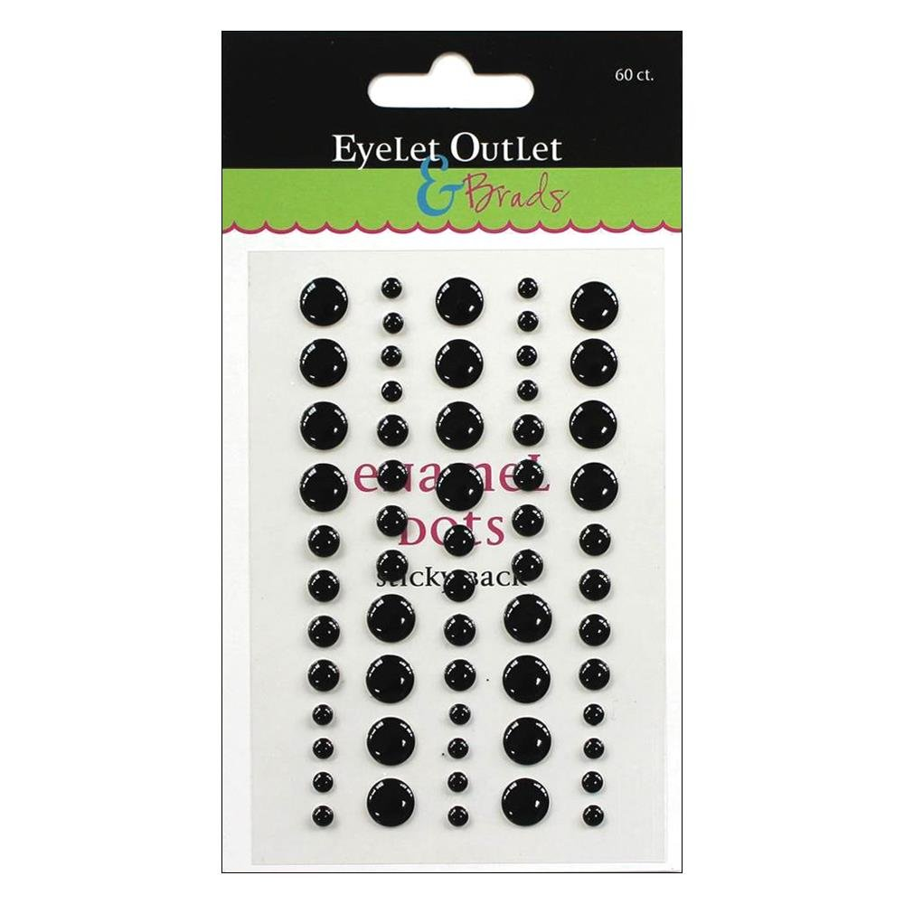 Enamel Dots Blk Mix