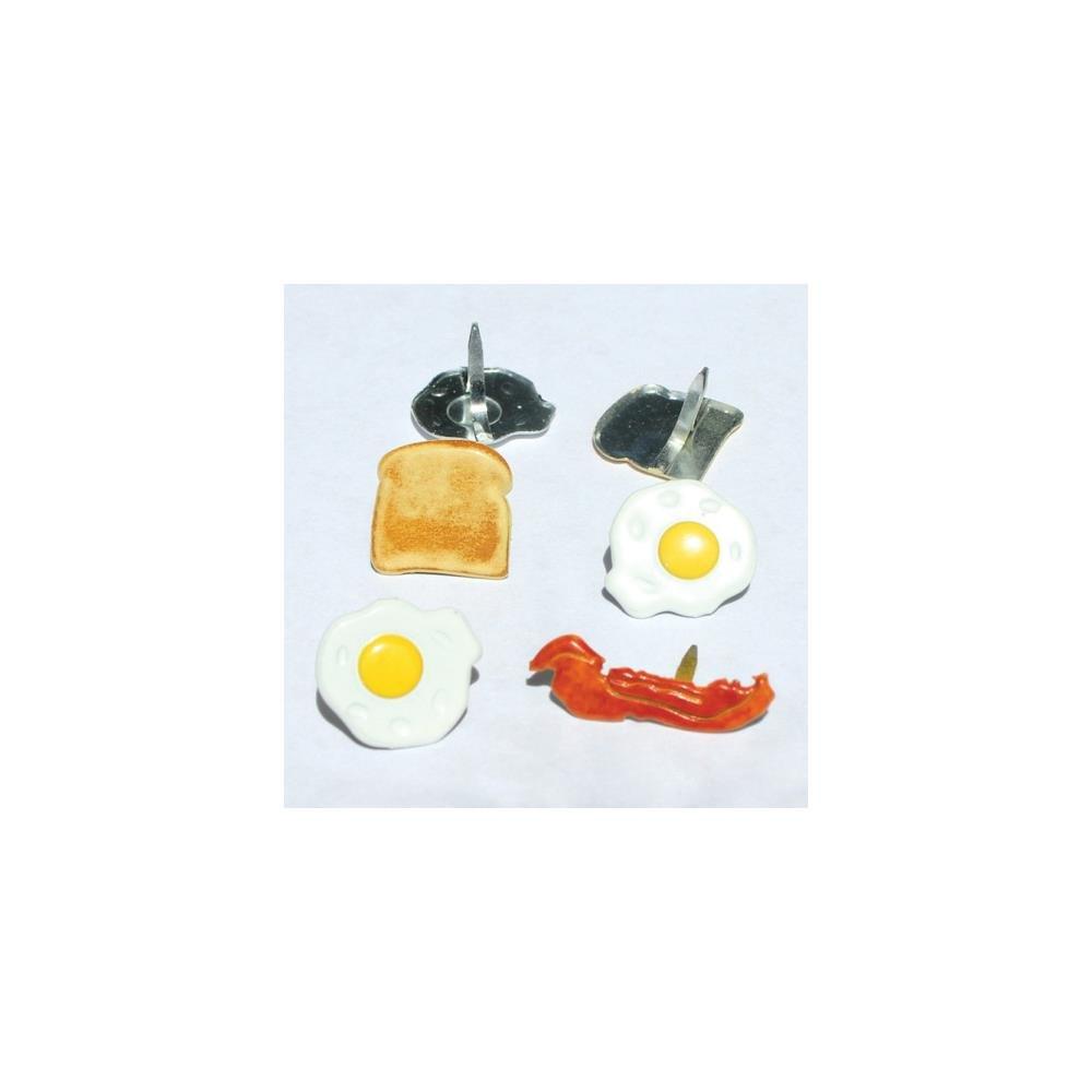 Eyelet Outlet Shape Brads 12/Pkg Breakfast