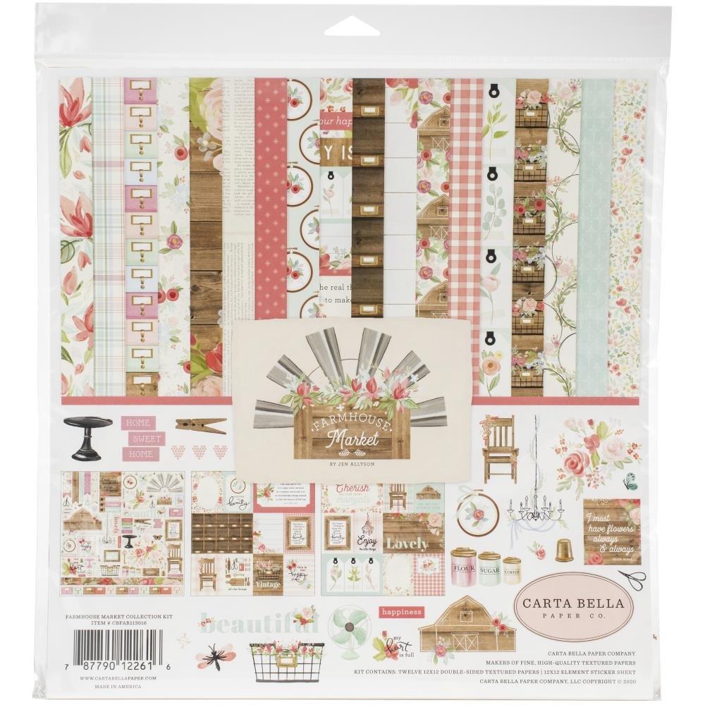 Carta Bella Collection Kit 12X12-Farmhouse Market