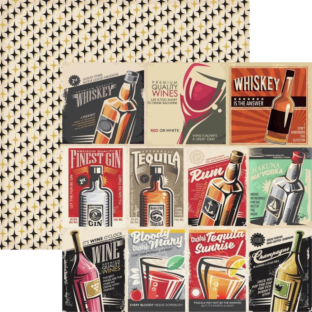 Happy Hour Double-Sided Cardstock 12X12-Good Times