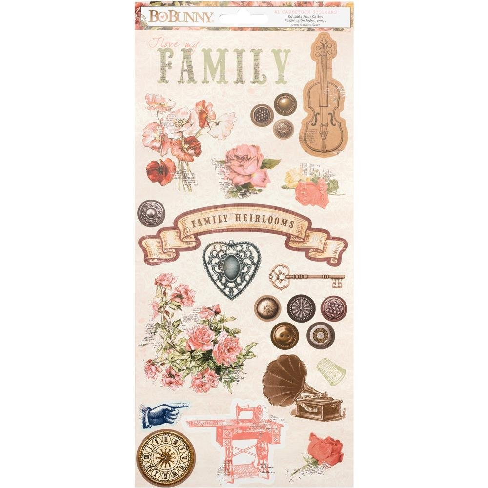 Family Heirlooms Cardstock Stickers 6X12-