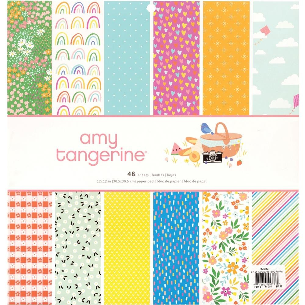 American Crafts Single-Sided Paper Pad 12X12 48/Pkg-Amy Tan Picnic In The Park