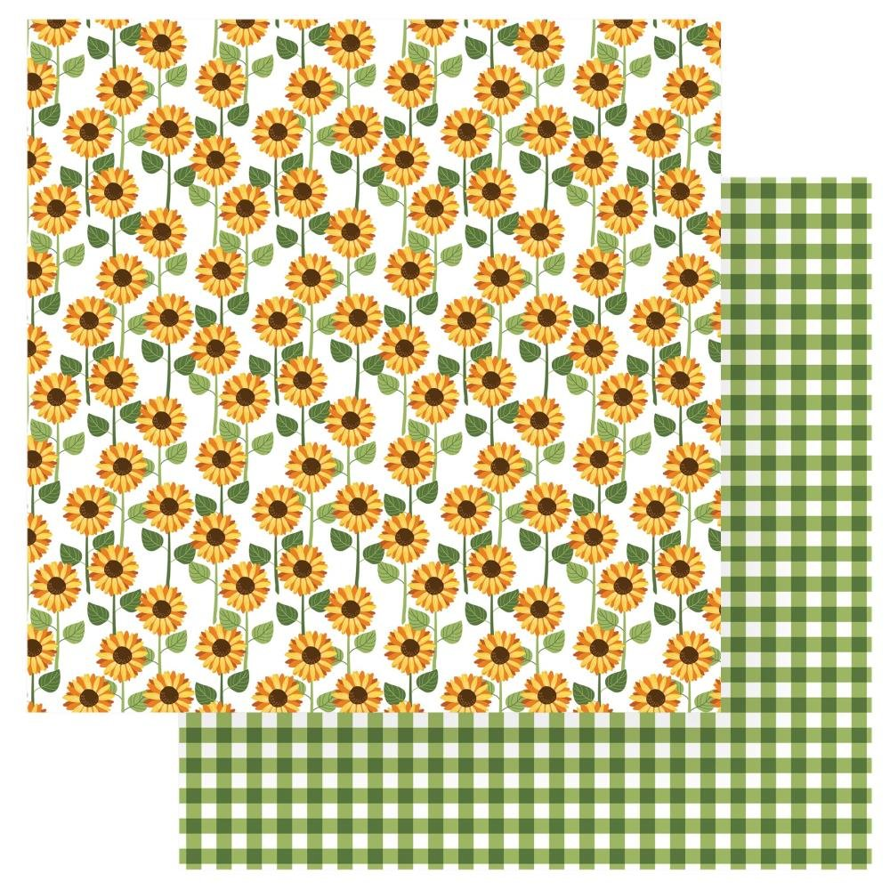 Gnome For Thanksgiving Double-Sided Cardstock 12X12-Sunflowers