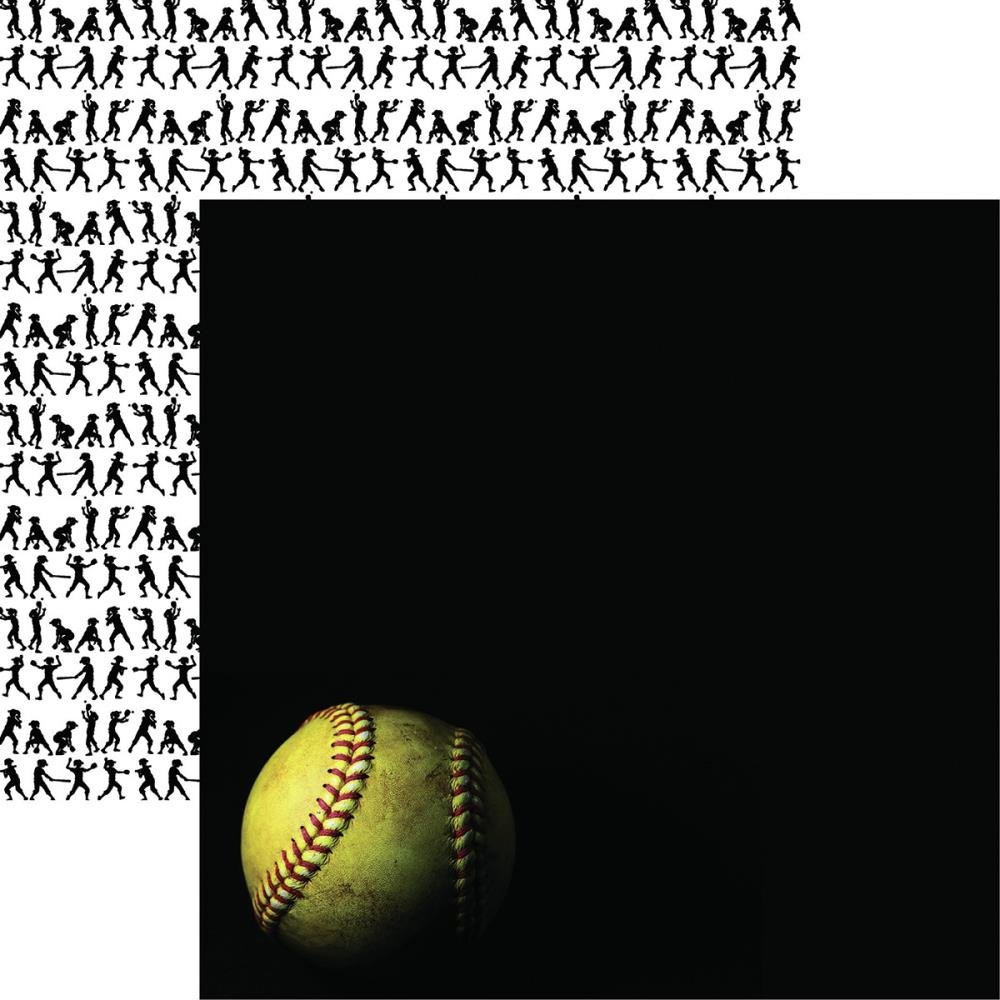 CLICK HERE FOR MORE DESIGNS Game Day Softball Double-Sided Cardstock 12X12