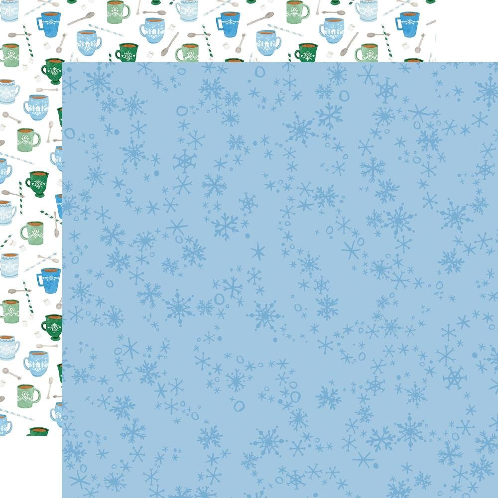 Carta Bella Winter Market Double-Sided Cardstock 12X12 Swirly Snowflakes