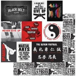 ColorPlay 12X12-Martial Arts Double-Sided Cardstock 12X12 Black Belt