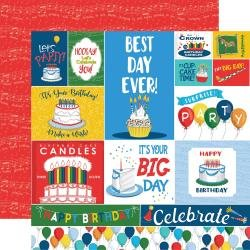 Carta Bella Let's Celebrate Double-Sided Cardstock 12X12 Journaling Cards