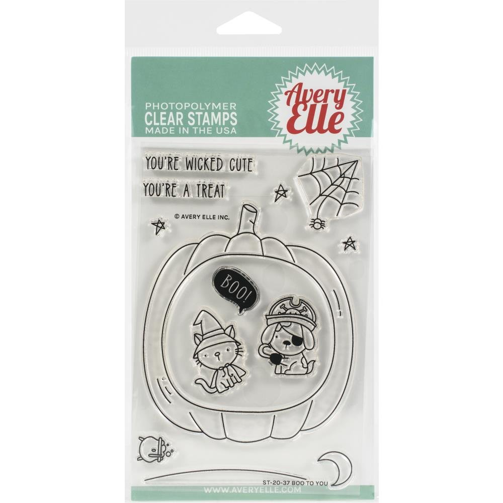Avery Elle Clear Stamp Set 4X6-Boo To You