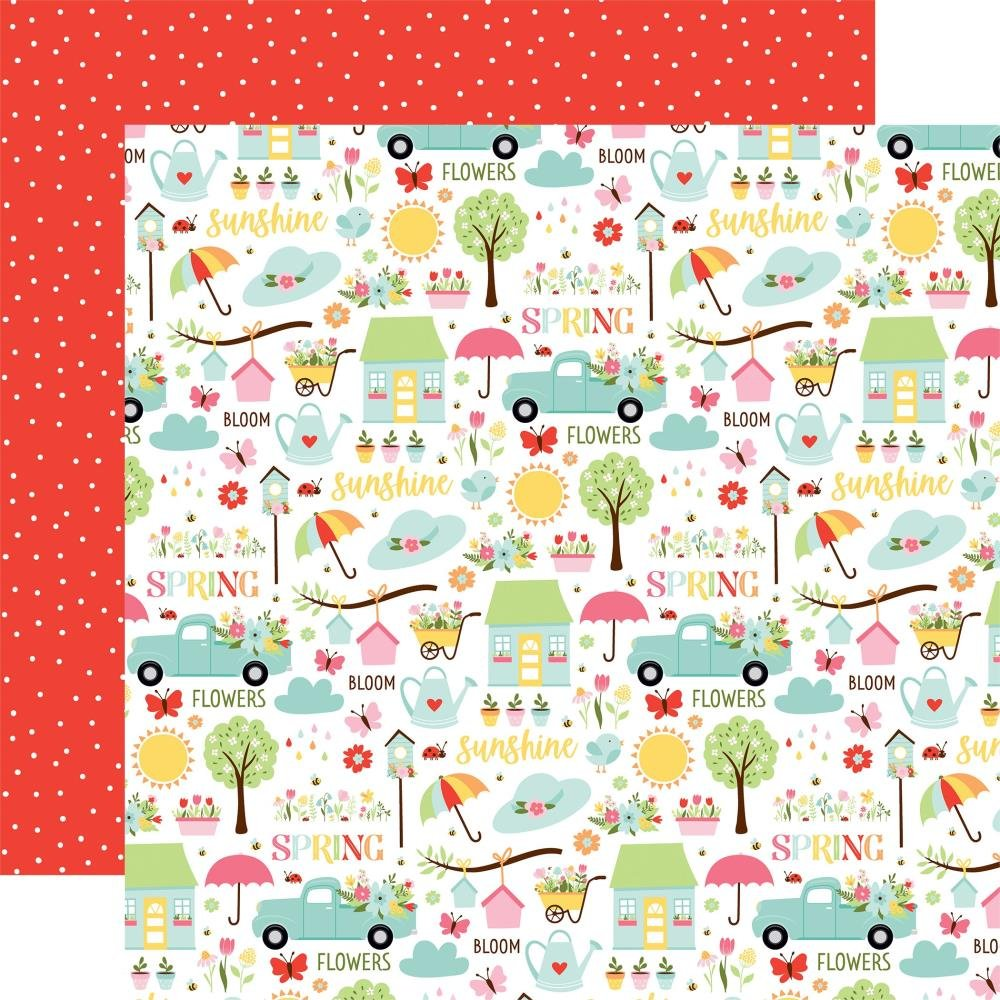 Welcome Spring Double-Sided Cardstock 12X12 Sunny Spring Day