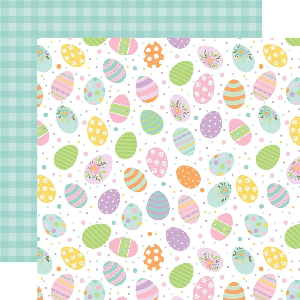 Welcome Easter Double-Sided Cardstock 12X12 Painted Eggs