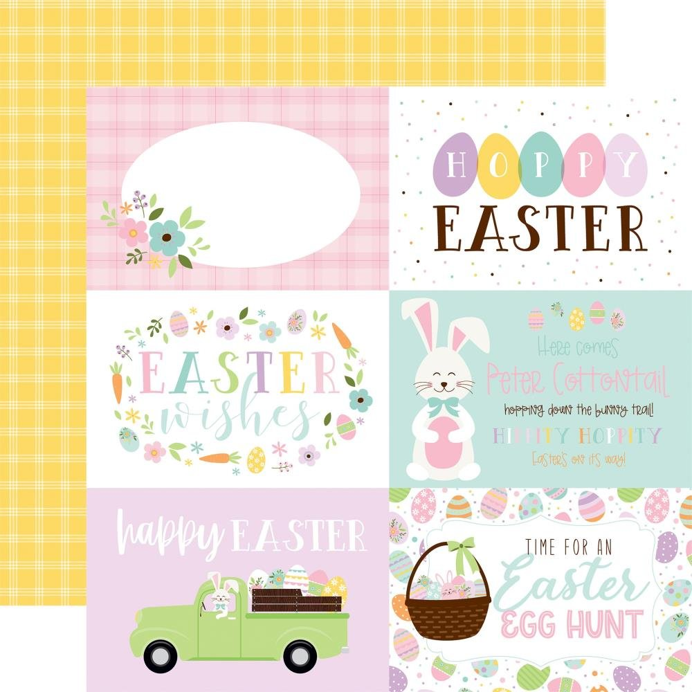 Welcome Easter Double-Sided Cardstock 12X12 6x4 Journaling Cards