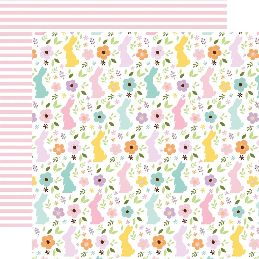 Welcome Easter Double-Sided Cardstock 12X12 Bunny Field
