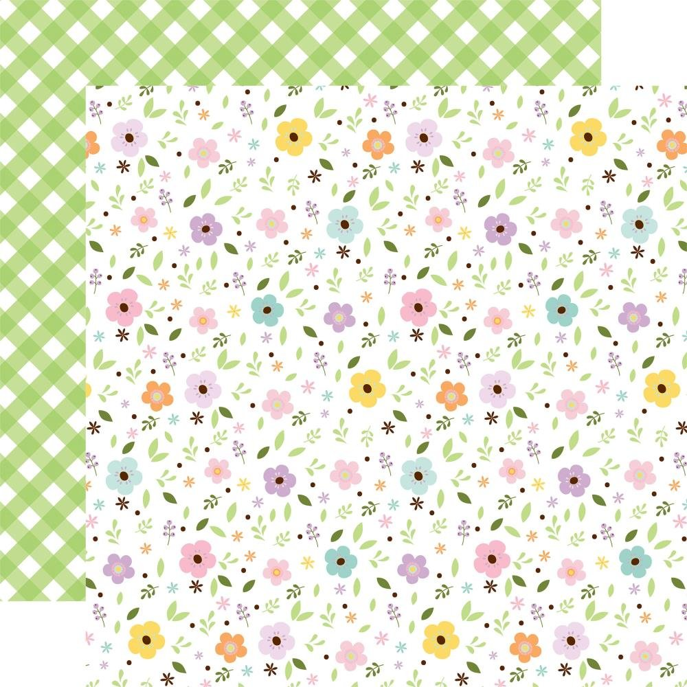 Welcome Easter Double-Sided Cardstock 12X12 Pastel Petals