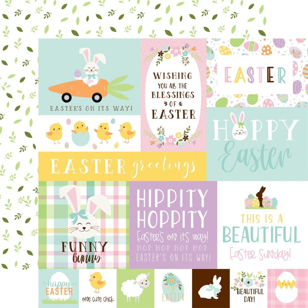 Welcome Easter Double-Sided Cardstock 12X12 Multi Journaling Cards