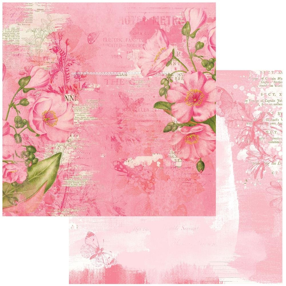 49 And Market Vintage Artistry Blush Double-Sided Cardstock 12X12 Radiant