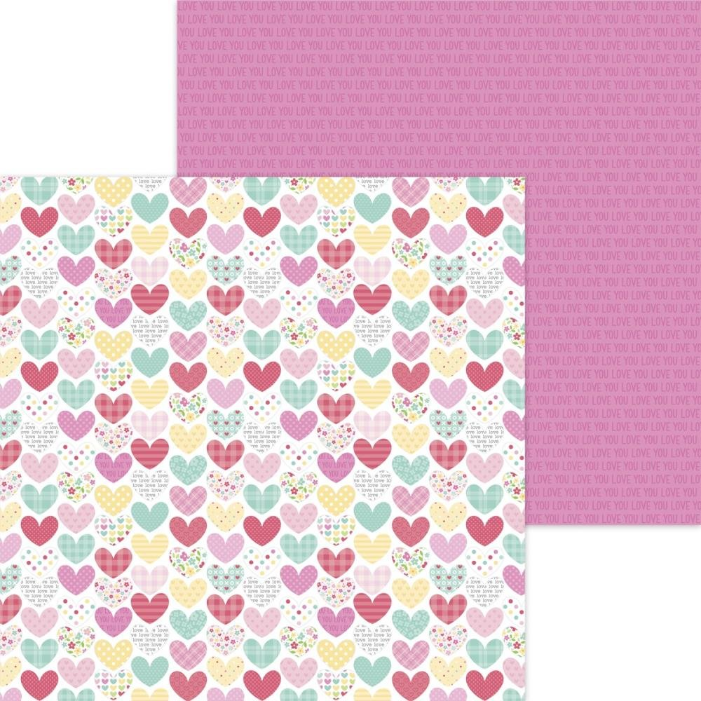 Doodlebug Made With Love Double-Sided Cardstock 12X12 Made With Love Heartwarmer