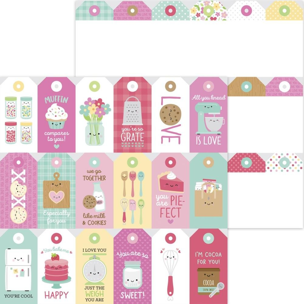 Doodlebug Made With Love Double-Sided Cardstock 12X12 Made With Love Treat Tags
