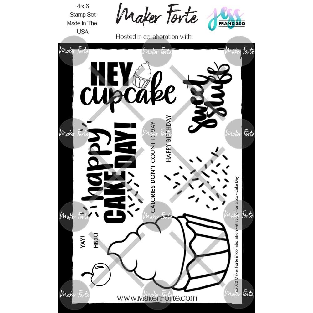 Maker Forte Clear Stamps By Jess Francisco 4X6 Cake Day