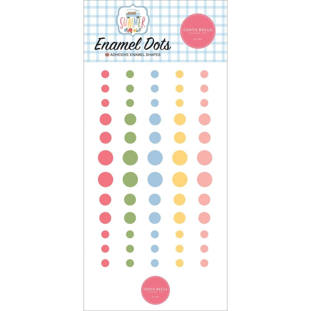 Carta Bella Adhesive Enamel Dots 60/Pkg Summer