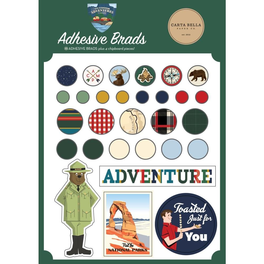 Carta Bella Decorative Brads Outdoor Adventures