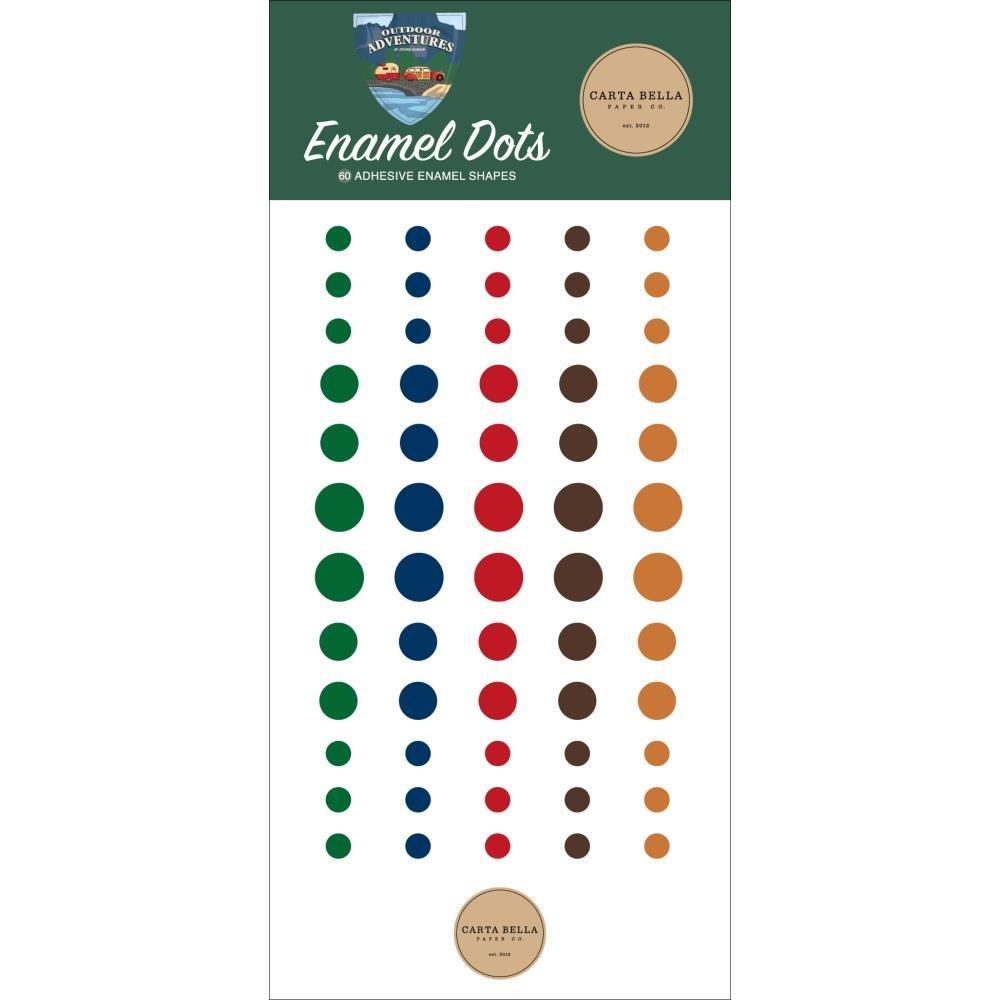 Carta Bella Adhesive Enamel Dots 60/Pkg Outdoor Adventures