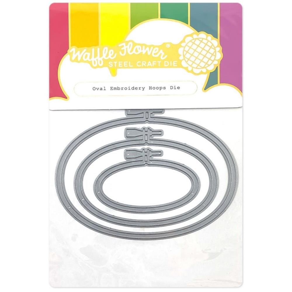 Waffle Flower Die Oval Embroidery Hoops