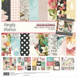Simple Stories Collection Kit 12X12 Simple Vintage Cottage Fields