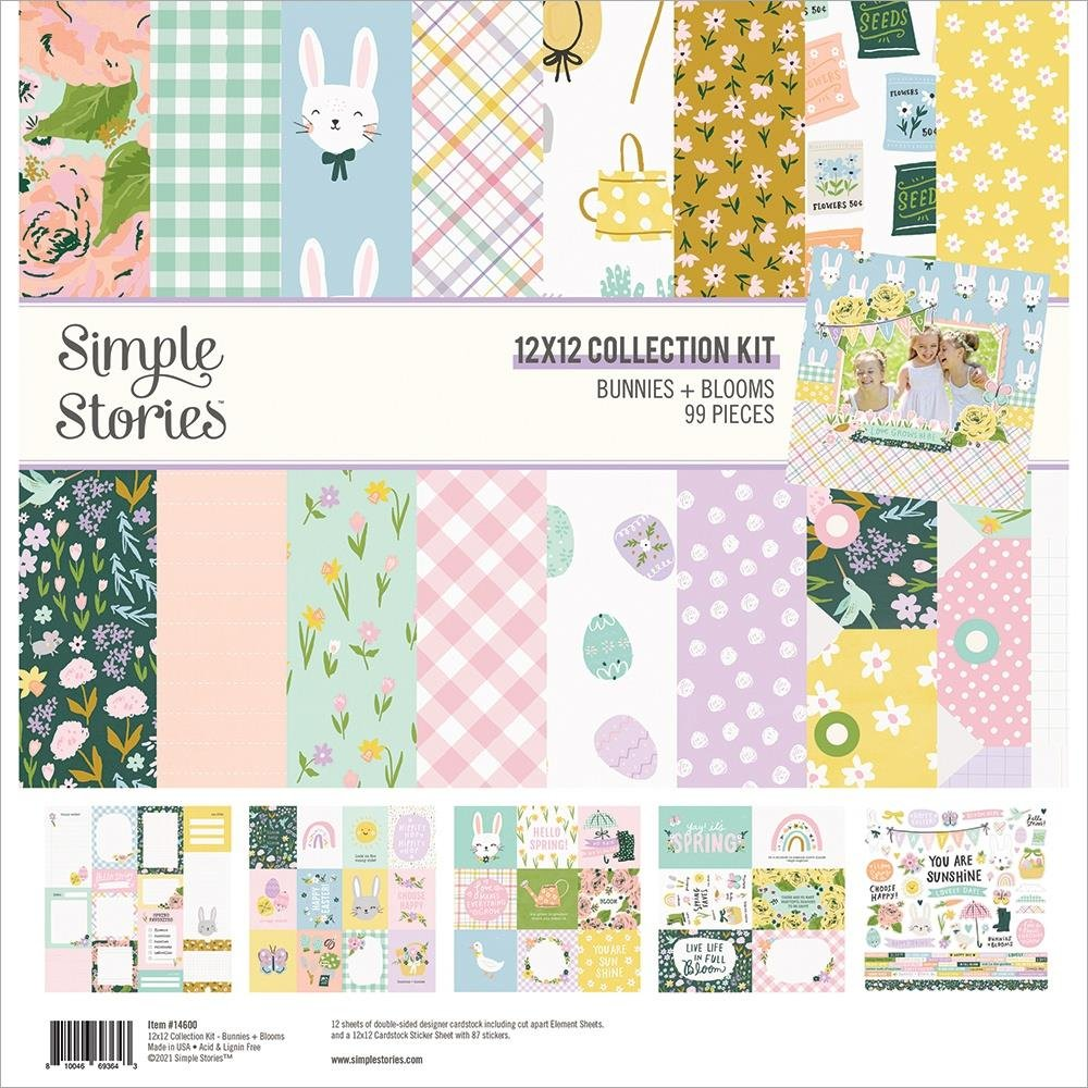 Simple Stories Collection Kit 12X12 Bunnies & Blooms