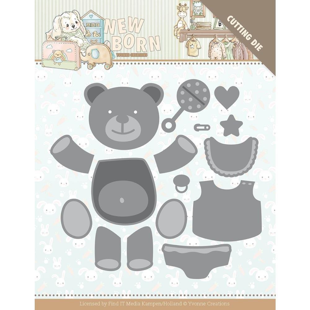 Find It Trading Yvonne Creations Die-Build Up Bear, Newborn