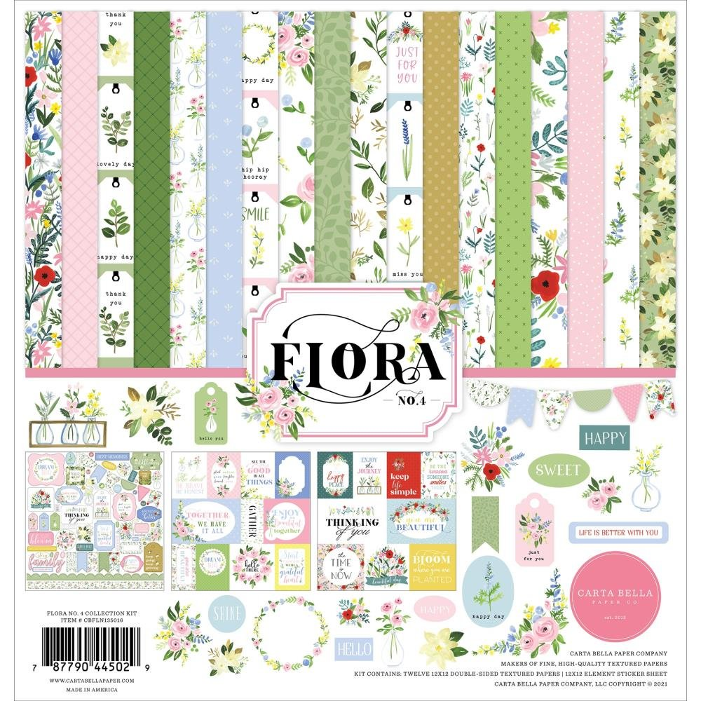 Carta Bella Collection Kit 12X12-Flora No. 4