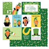 Tulla & Norbert's Lucky Charm Double-Sided Cardstock 12X12 Luck Of The Irish
