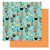 Tulla & Norbert's Lucky Charm Double-Sided Cardstock 12X12 Kiss Me