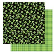 Tulla & Norbert's Lucky Charm Double-Sided Cardstock 12X12 Four Leaf Clover