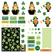 Tulla & Norbert's Lucky Charm Double-Sided Cardstock 12X12 Lucky Charm Dies Paper