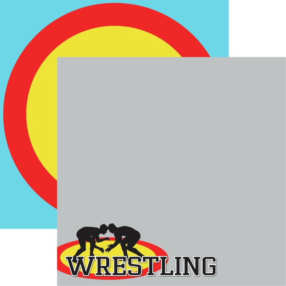 Wrestling Double-Sided Cardstock 12X12-#2