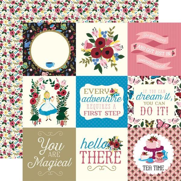Alice in Wonderland 4x4 Journaling Cards