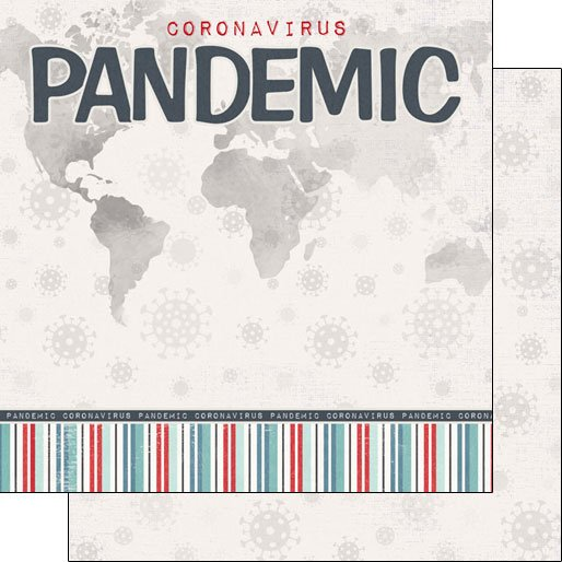 Scrapbook Customs Covid-19 Pandemic Title DS - DS Paper 12 x 12
