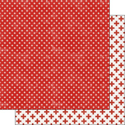 Scrapbook Customs Covid-19 Red Cross DS - Companion pattern DS Paper 12 x 12
